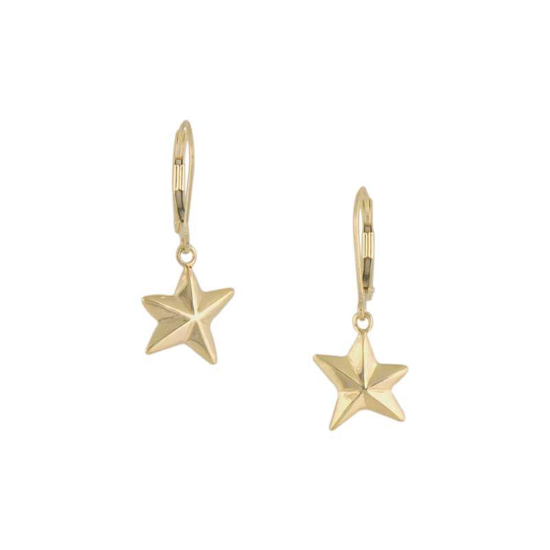 Star Earrings, 14 kt. Gold