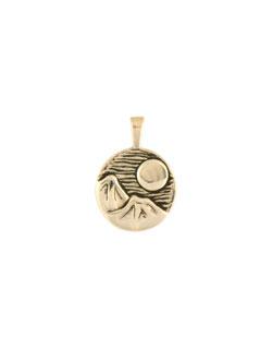 January Moon Pendant, 14 kt Gold