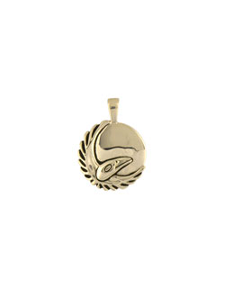 March Moon Pendant, 14 kt Gold