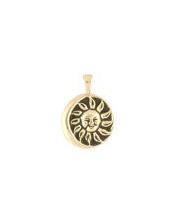 June Moon Pendant, 14 kt Gold