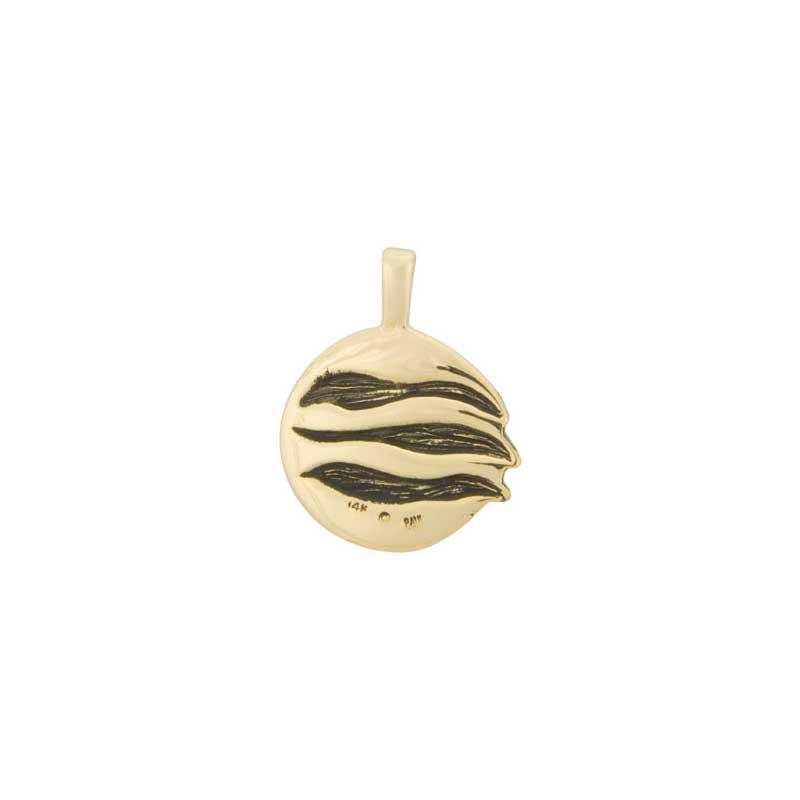 November Moon Pendant, 14 kt Gold