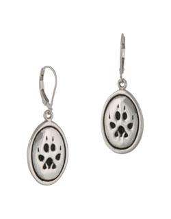 Wolf Paw Print Earrings
