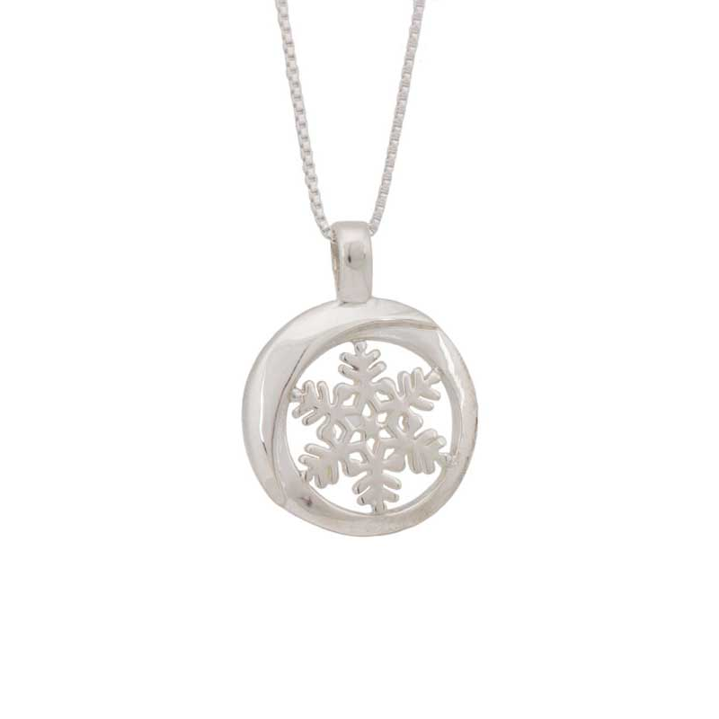 Snowflake Pendant, sterling silver