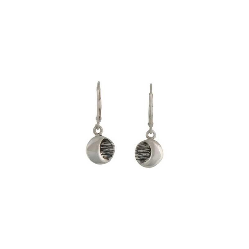 Moon Earrings, Sterling silver