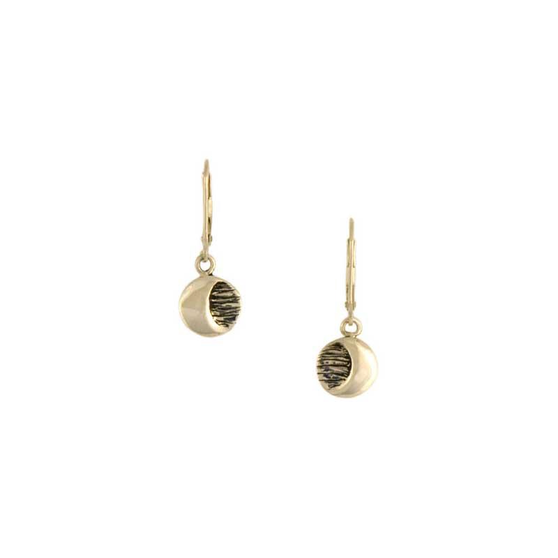 Moon Earrings, 14 kt. Gold