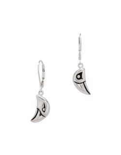 Raven and Eagle Head Earrings