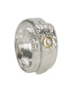 Reticulated Ring, Silver