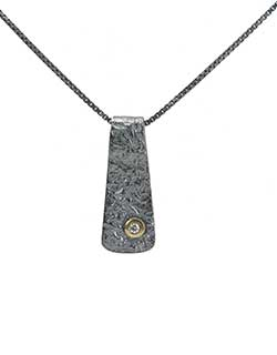 Reticulated Pendant, Oxidized