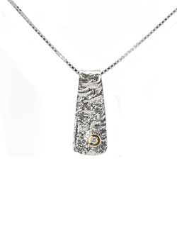 Reticulated Pendant, Silver