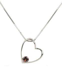 Gemdrop Heart Necklace