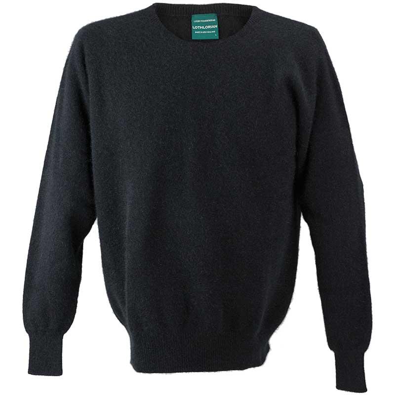 Possum Crew Neck Sweater, Black