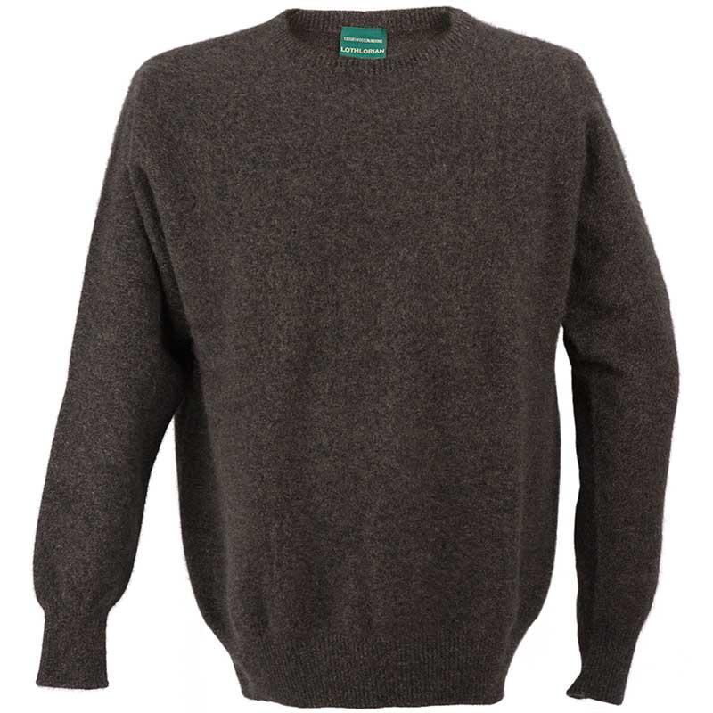 Possum Crew Neck Sweater, Brown Marl