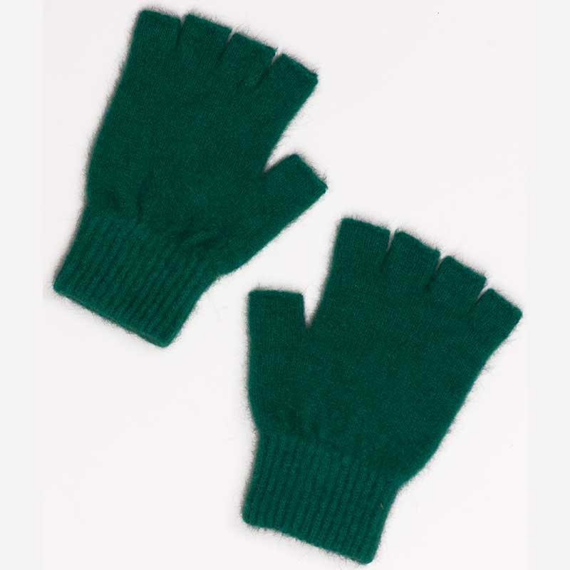 Possum Open Finger Gloves, Emerald