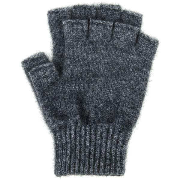 Possum Open Finger Gloves, Charcoal