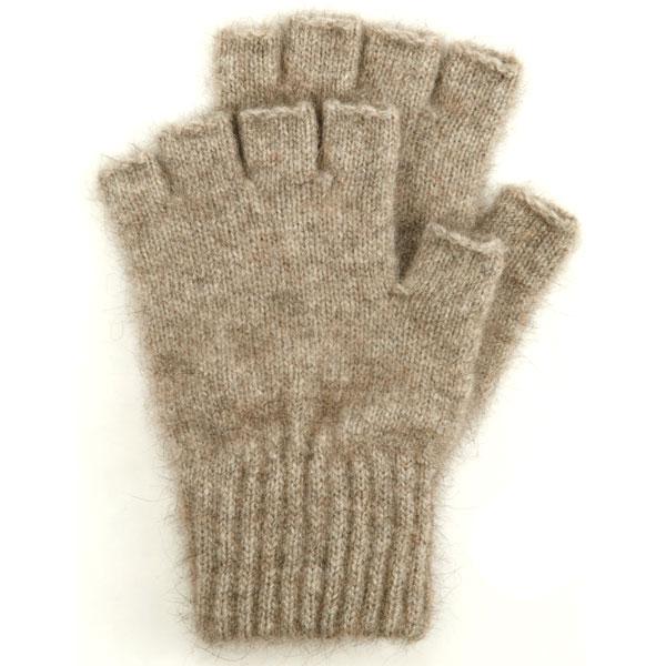 Possum Open Finger Gloves, Natural