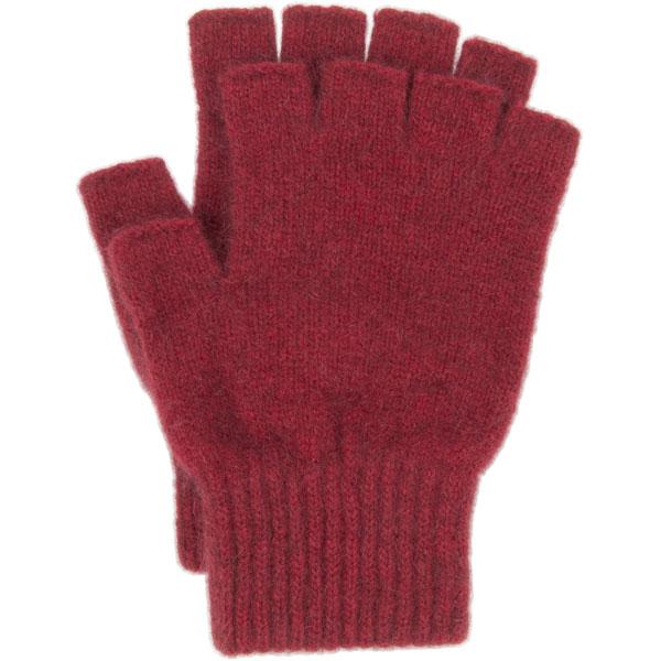 Possum Open Finger Gloves, Red