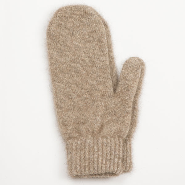 Possum/Merino Wool Mittens, Natural