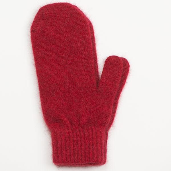 Possum/Merino Wool Mittens, Red