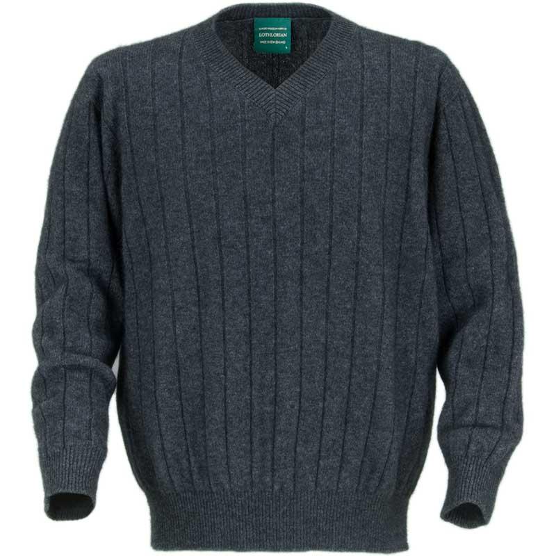 V Neck Possum Sweater, Charcoal