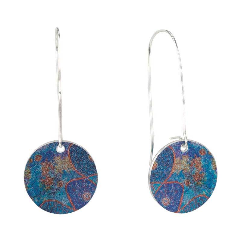 Star Dreaming Circle Earrings