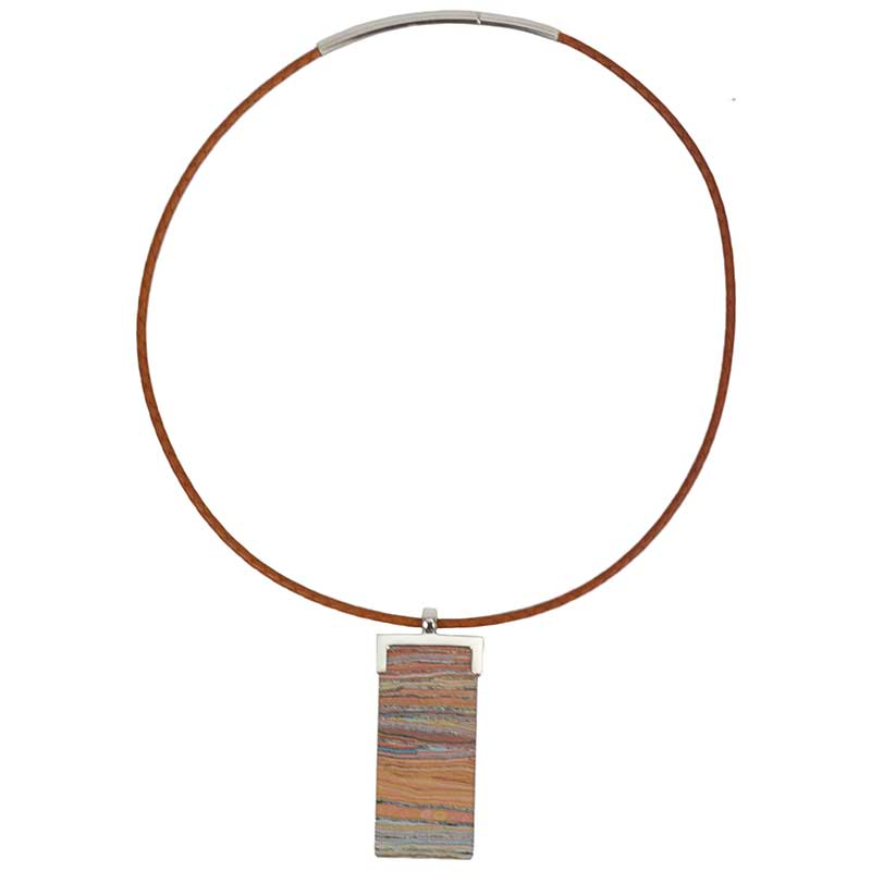 Leather Choker with Lappi Lappi Dreaming Pendant