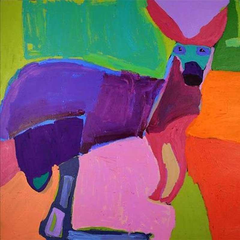 Kangaroo of Yuendumu Artwork