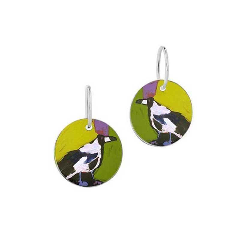 Magpie of Yuendumu Earrings