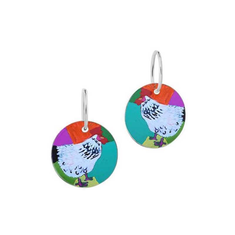 Rooster of Yuendumu Earrings