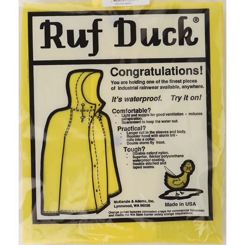 Ruf Duck Hooded Rain Jacket, Yellow