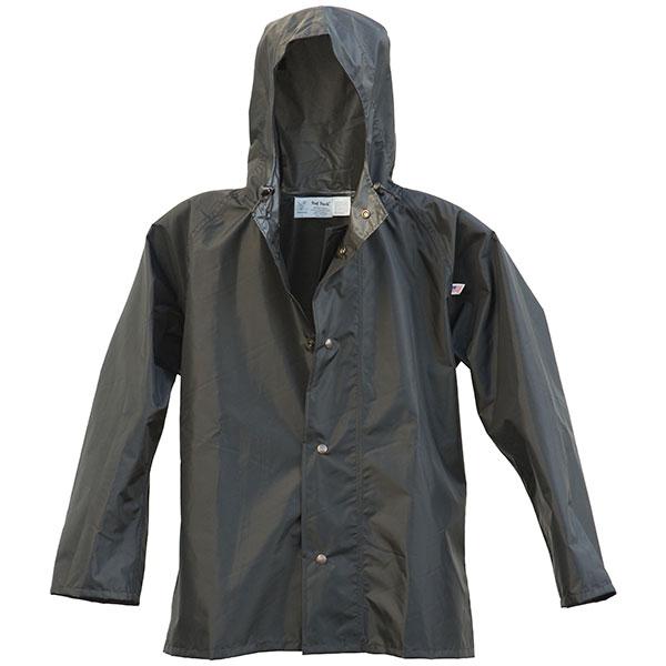 Ruf Duck Hooded Rain Jacket, Black