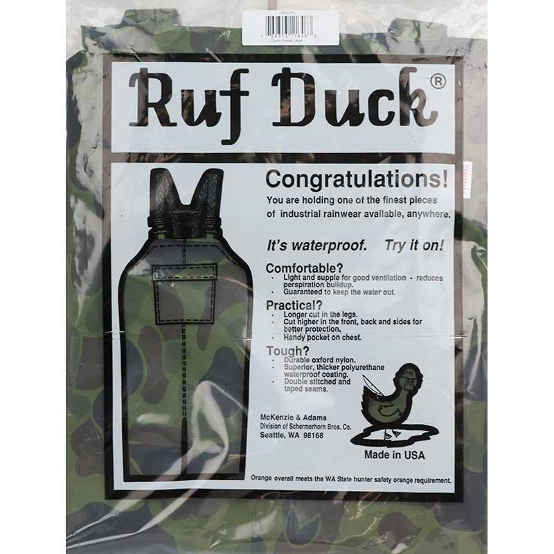 Ruf Duck Rain Overalls, Camouflage