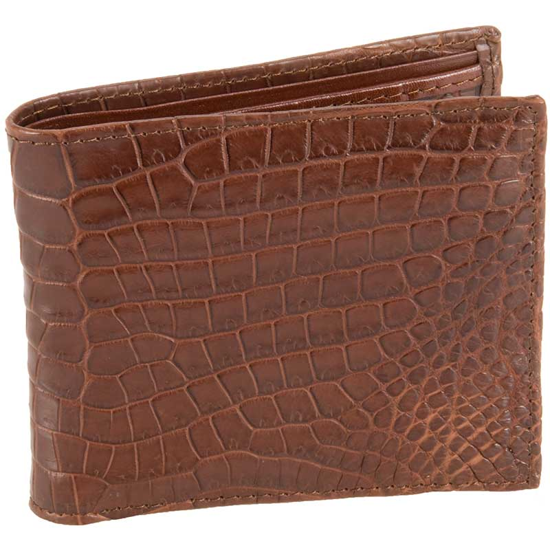 Crocodile ID Wallet, Brown