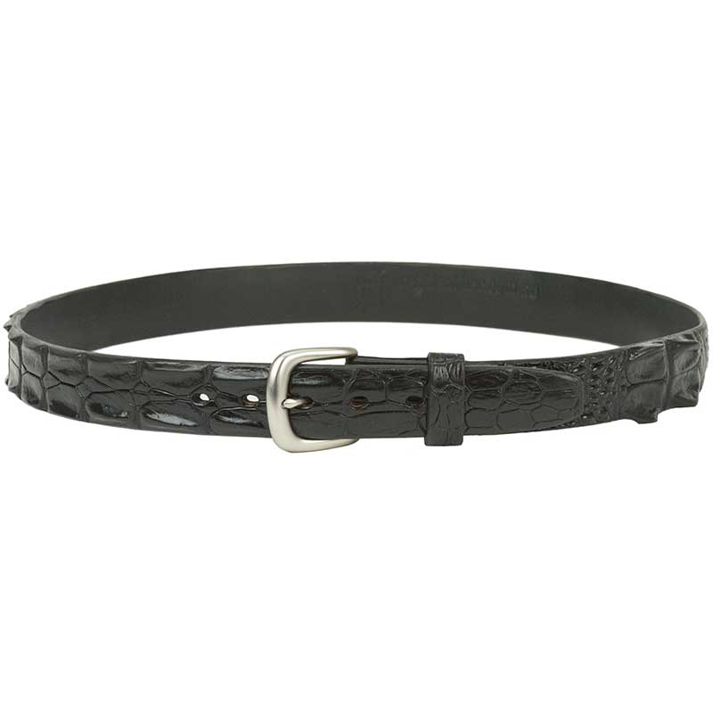 Hornback Crocodile Leather Belt : The raised scutes give a three-dimensional quality to these belts.