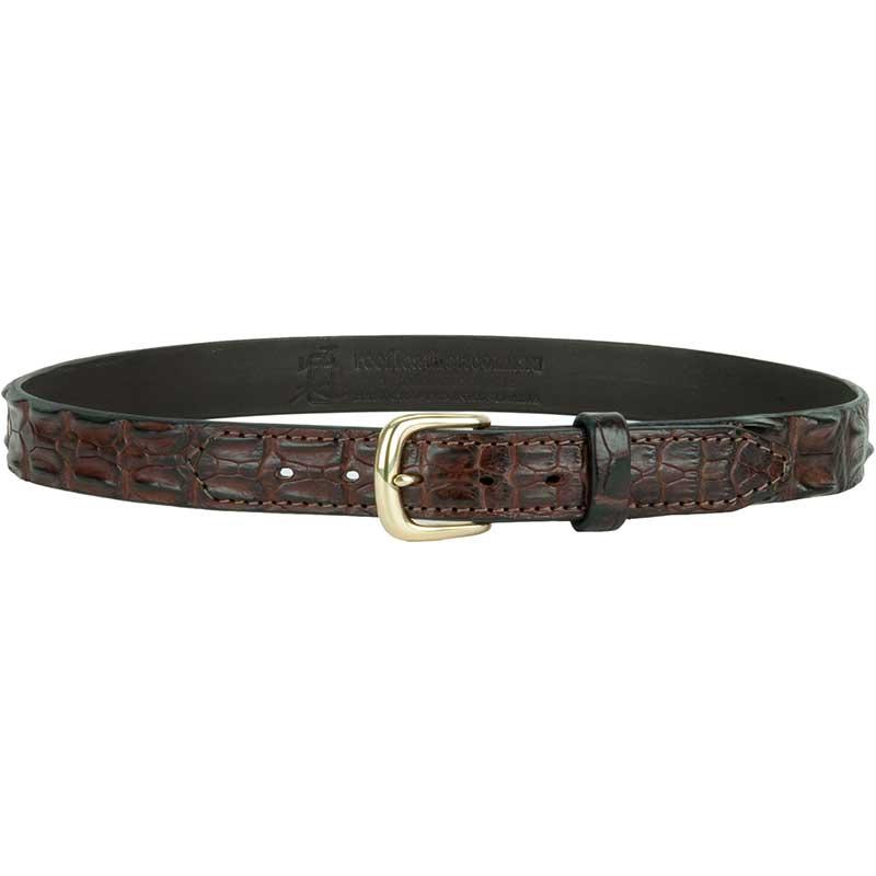 Hornback Crocodile Leather Belt