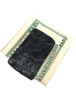 Crocodile Leather Money Clip
