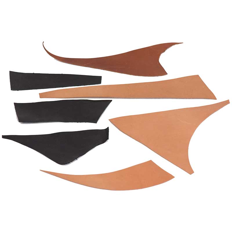 Kangaroo Leather Samples -- three weights, 2 colors