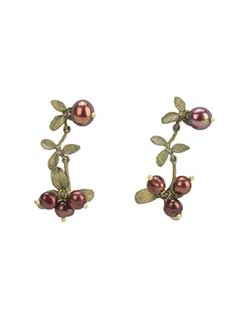 Cranberry Dangle Earrings