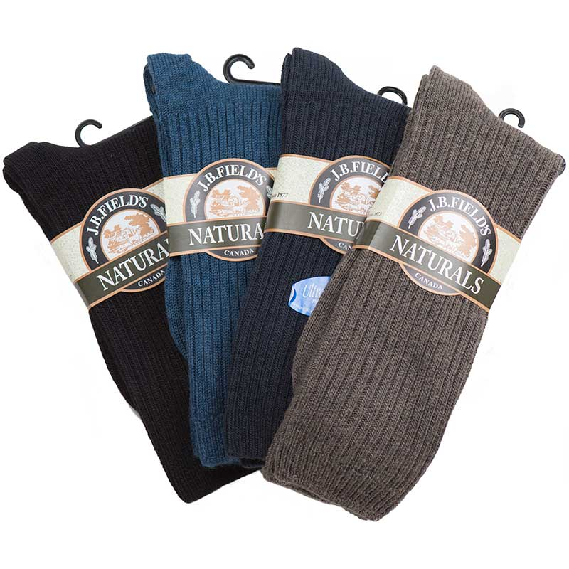 The Merino Casual Sock is available in Black, Navy, Light Brown and Denim
