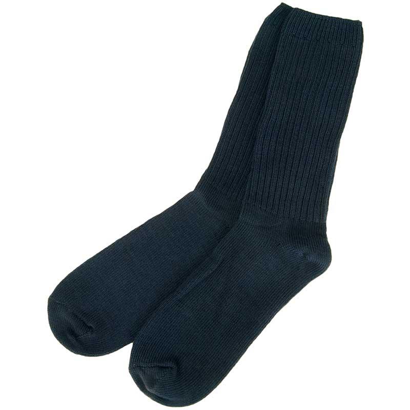 Navy Merino Casual Sock