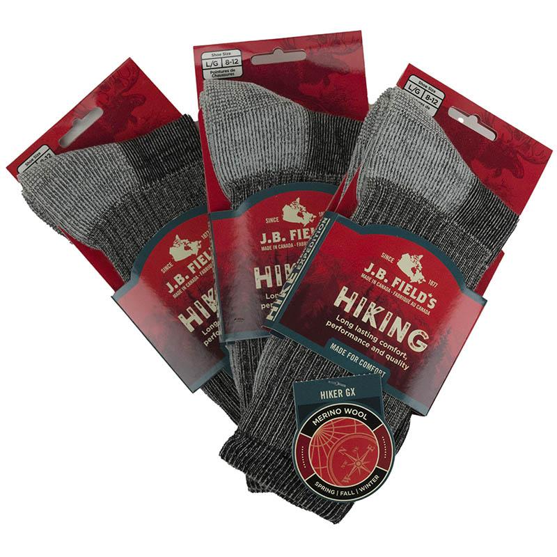 3 Pair Super Wool Hiker GX Socks