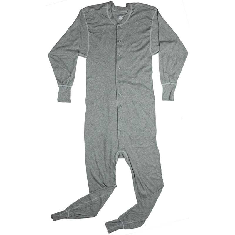 Cotton Union Suit, Gray
