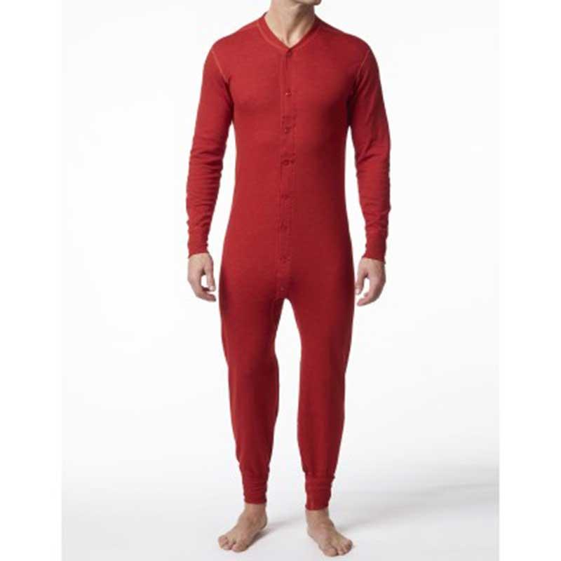 Cotton Union Suit, Red