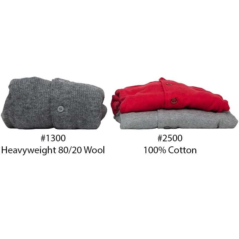 80/20 Underwear Union Suit compared to #2500 Cotton Union Suit