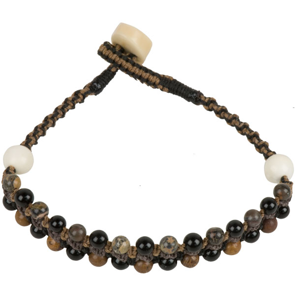 Macrame Bracelet, Earth Browns, hand crafted by Stathia Annis