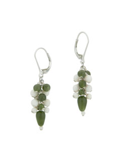 Jade & Woolly Mammoth Ivory Earrings