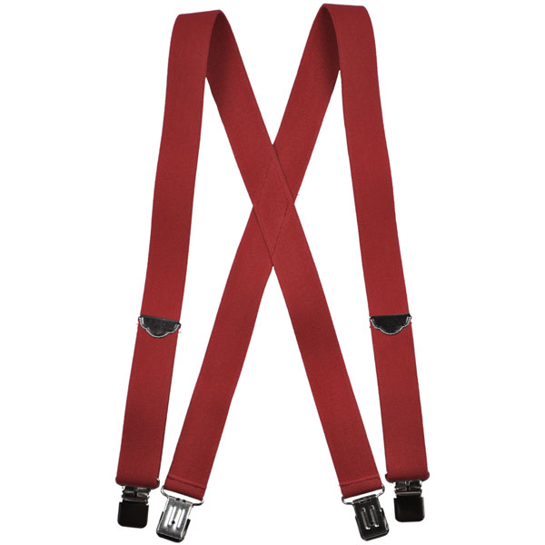 Red Welch Suspenders, Clip Ends
