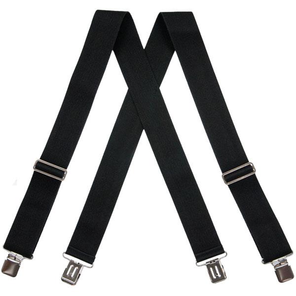 Black HopSack Suspenders, Clip Ends