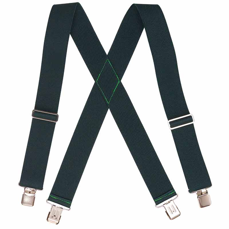 Green HopSack Suspenders, Clip Ends