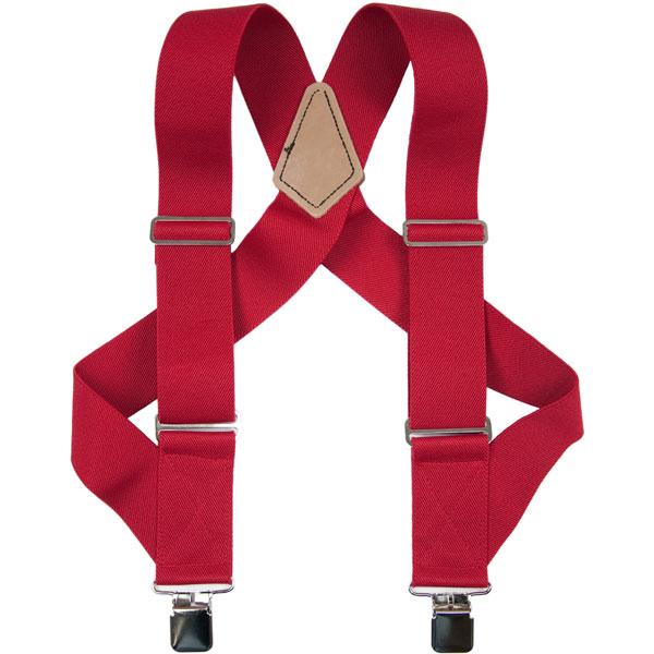 HopSack Trucker Suspenders, Red