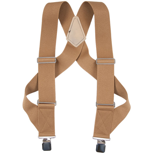 HopSack Trucker Suspenders, Tan